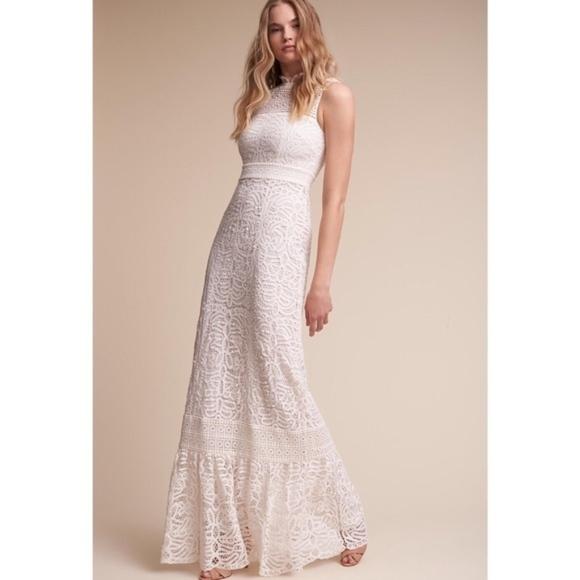 Anthropologie Dresses Lace Wedding Dress Poshmark